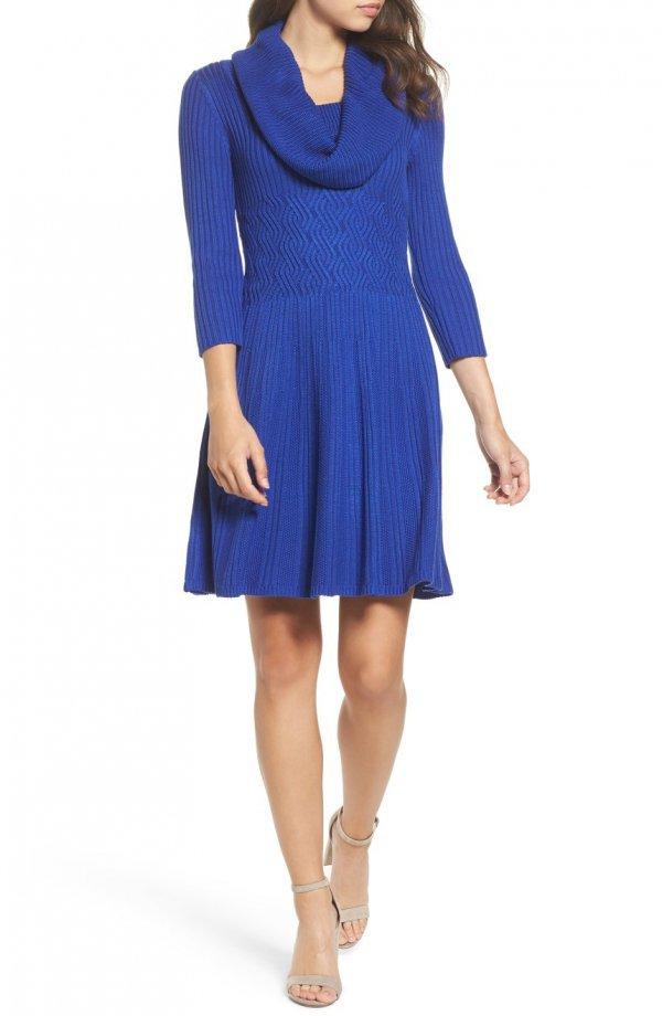 clothing, blue, cobalt blue, day dress, dress,