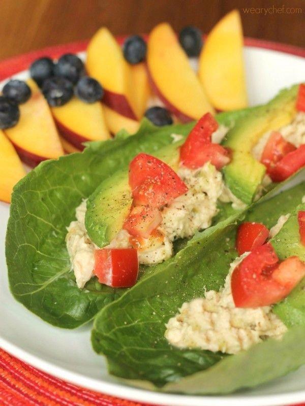 Tuna Salad Lettuce Wraps
