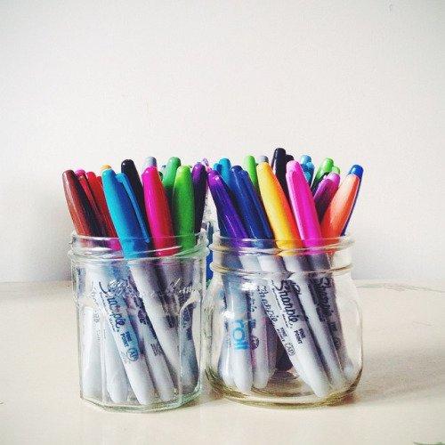 Markers = School