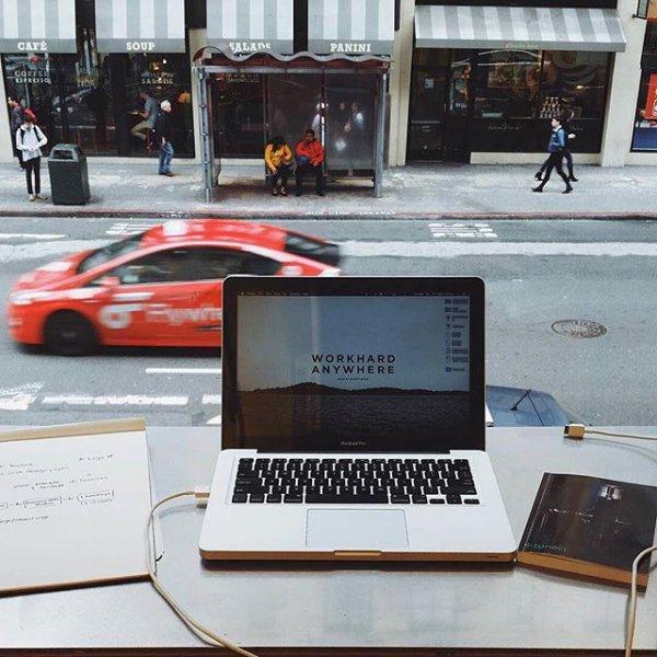 personal computer hardware, WORK, HARD, ANYWHERE,