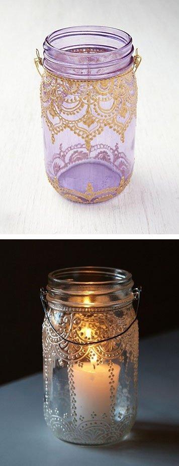 Decorate Mason Jars for Lanterns