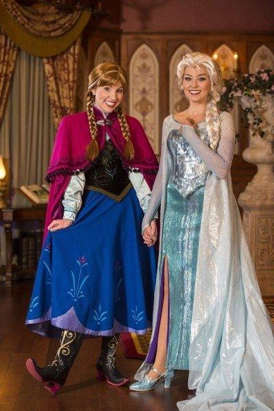 Queen Elsa and Princess Anna