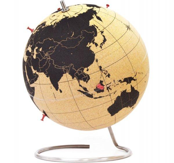 Cork Globe Map of the World