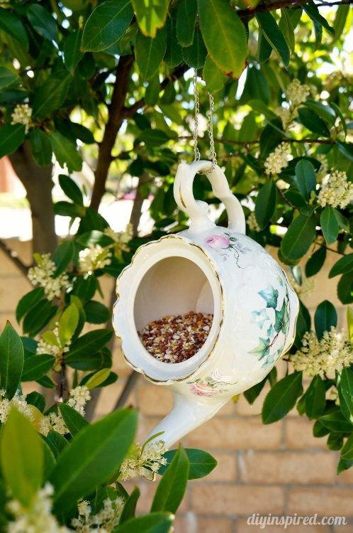 Teacup and Teapot Bird Feeder
