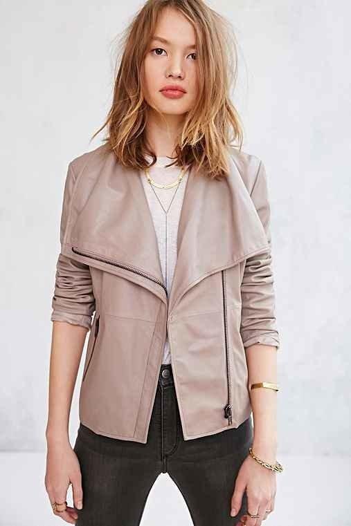BB Dakota Keaton Leather Jacket - Grey