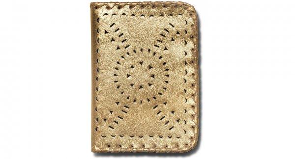 Vintage Gold Passport Holder
