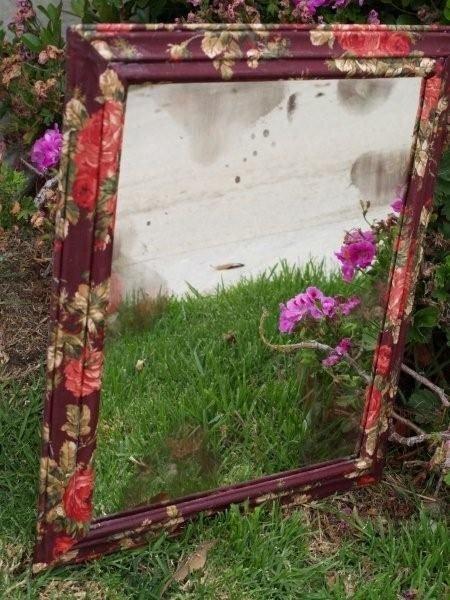 Fabric Mod Podge Mirror