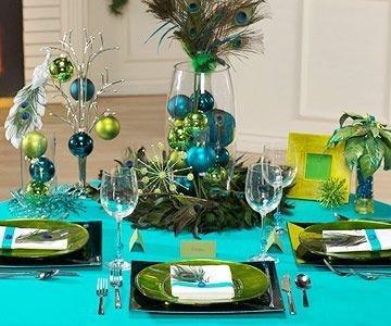 Peacock-themed Christmas