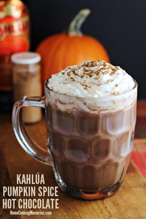 This Kahlúa Pumpkin Spice Hot Chocolate