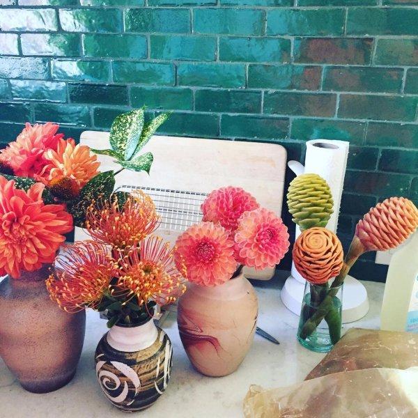 flower, sculpture, crochet,