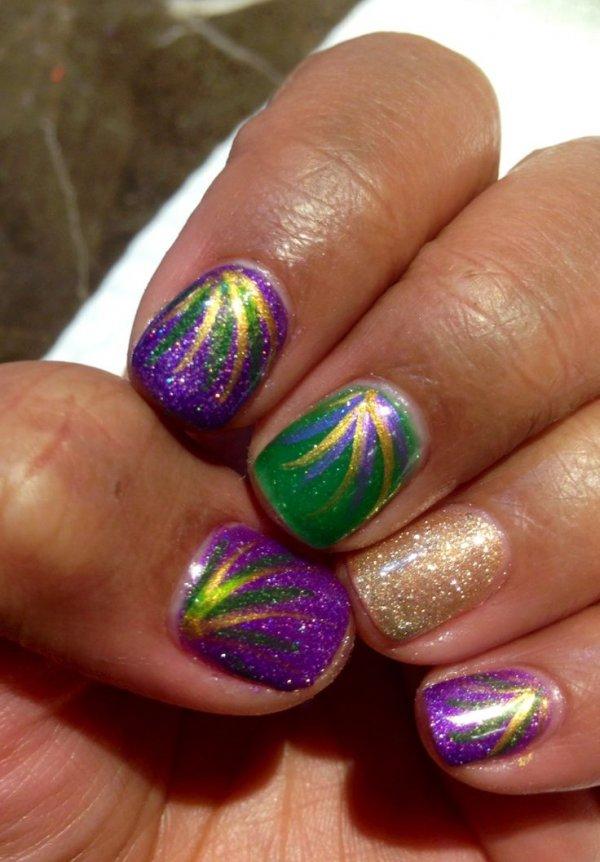 Several Looks - 31 Fantastic Mardi Gras Nail Art Ideas ... …