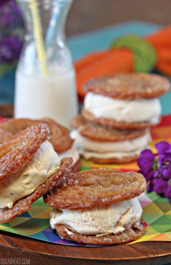Churro Ice Cream Sandwich