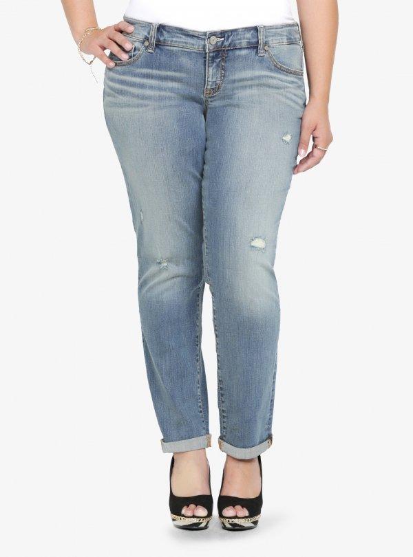 Torrid White Label Boyfriend Jeans with Destruction