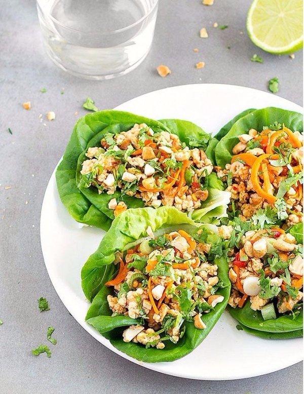 Healthy Asian Chicken Lettuce Wraps