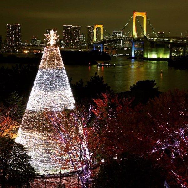 reflection, night, city, water, landmark,