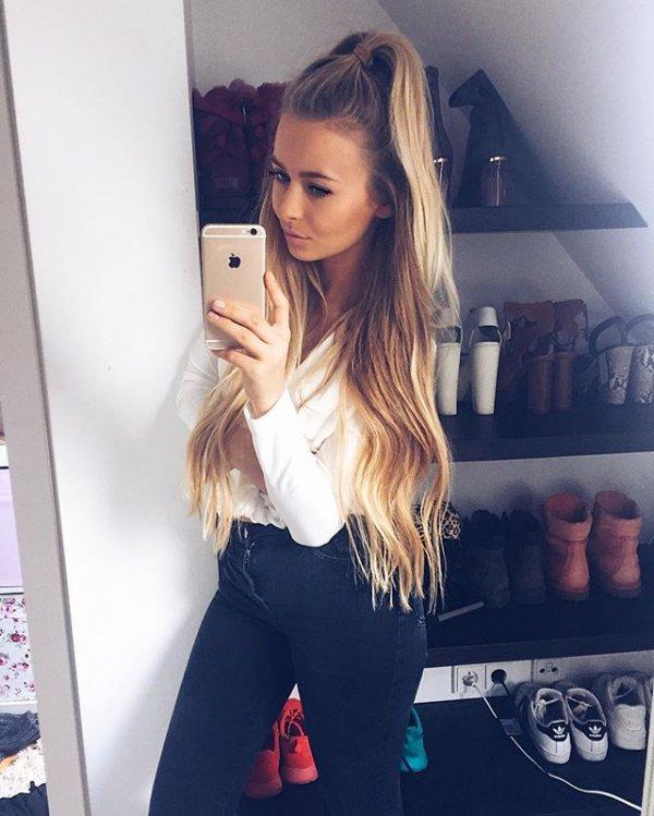 hair, hairstyle, model, blond, selfie,