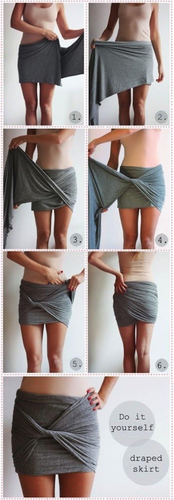 Scarf to Draped Skirt