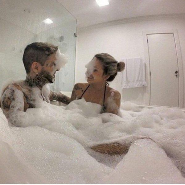 bathing,