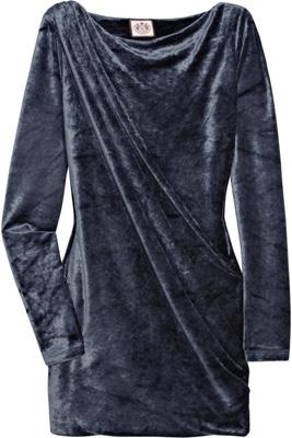 Juicy Couture Draped Velour Mini Dress