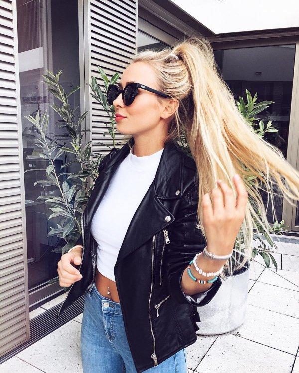 clothing, hair, jacket, denim, hairstyle,