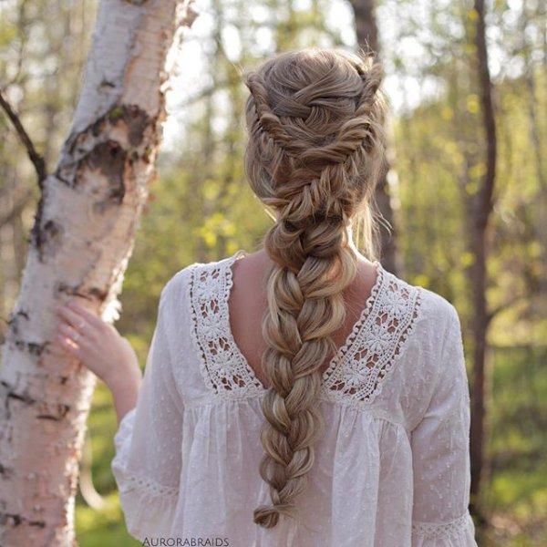 hairstyle, portrait, sculpture, tree, dress,