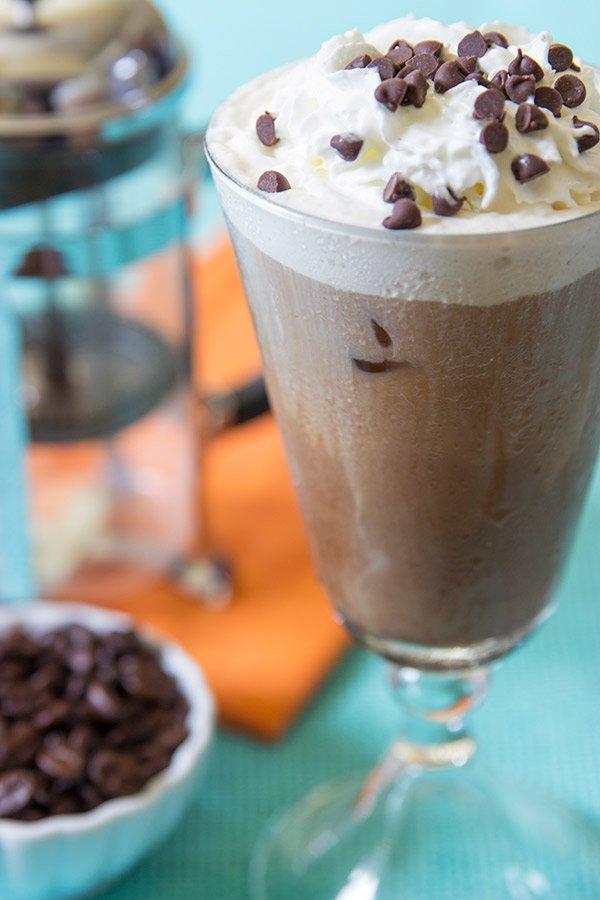 Salted Caramel Mocha Iced Coffee