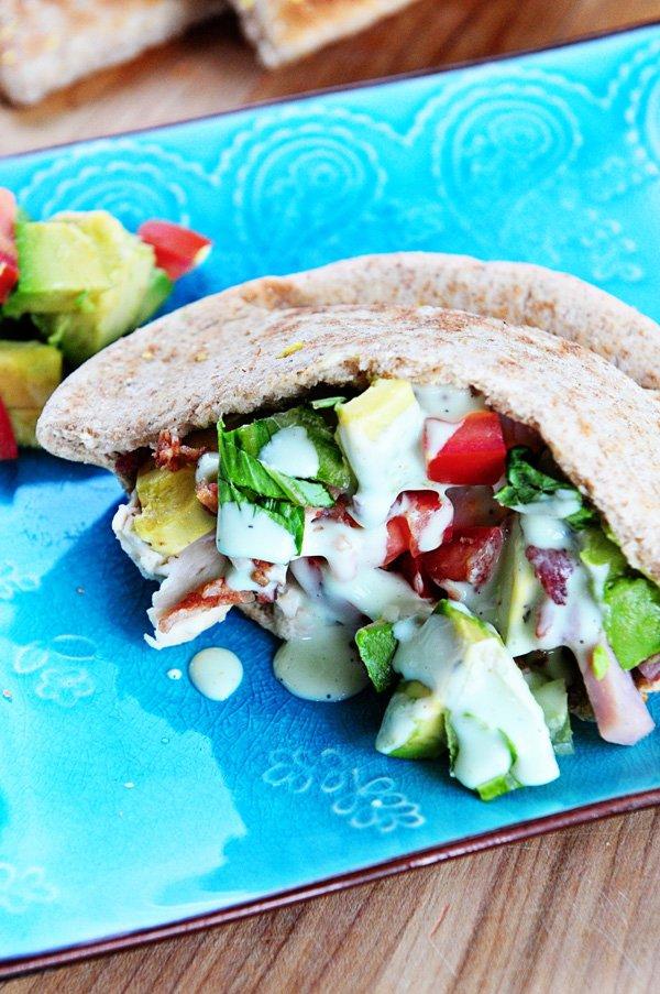 Cobb Salad Stuffed Pita Pockets