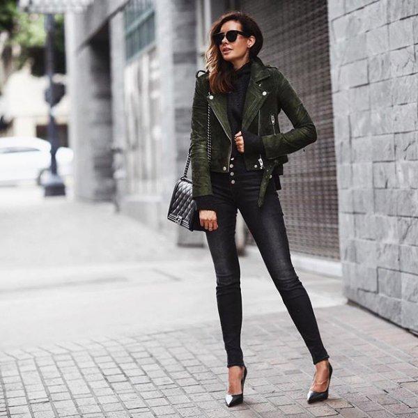clothing, black, footwear, leather, jacket,