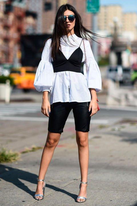 clothing, white, footwear, fashion model, road,