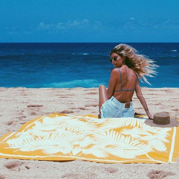vacation, sea, shore, yellow, beach,