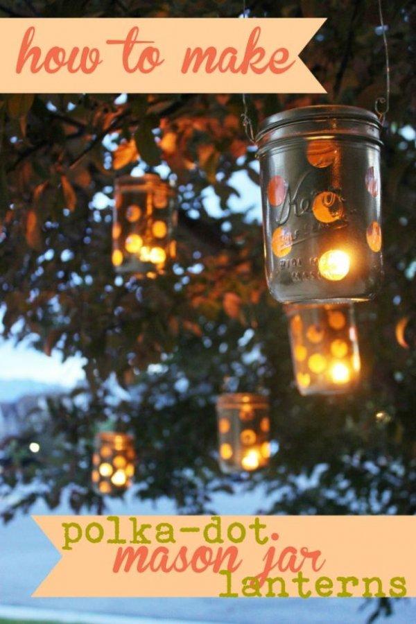 DIY Polka-Dot Lanterns