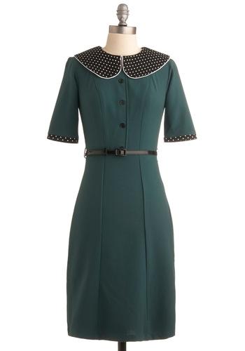 Pine Green Day Dress