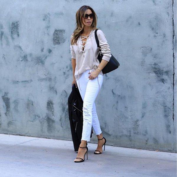 white, clothing, jeans, winter, denim,