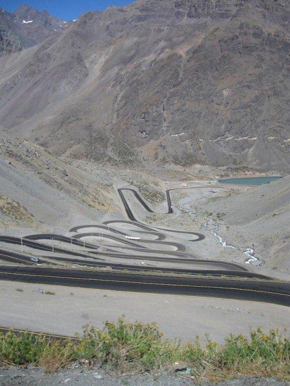 Paso De Los Caracoles, Andes