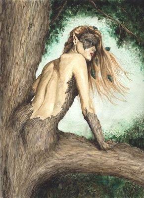 Hamadriad - Supernatural Creatures That Live in Trees
