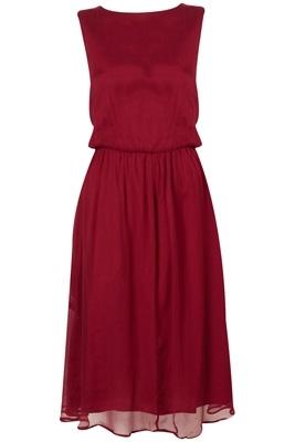 Topshop Midi Chiffon Dress