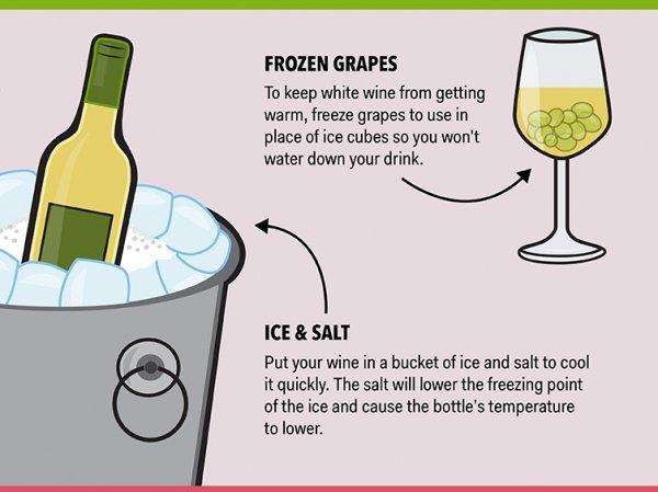 Frozen Grapes for Ice Cubes = Genius!