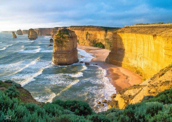 Twelve Apostles, cliff, landform, geographical feature, coast,