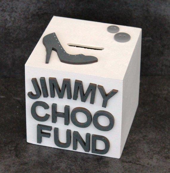 Jimmy Choo Shoe Fund Wooden Money Box