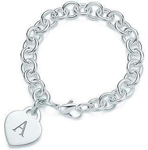 Tiffany Alphabet Heart Tag Bracelet