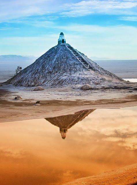 Salt Mausoleum at Chott El Jerid, Tozeur, Tunisia