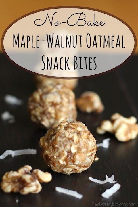 Maple Walnut Oatmeal Snack Bites