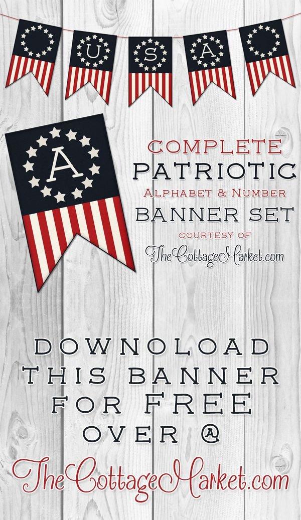 Free Printable Patriotic Banner Set