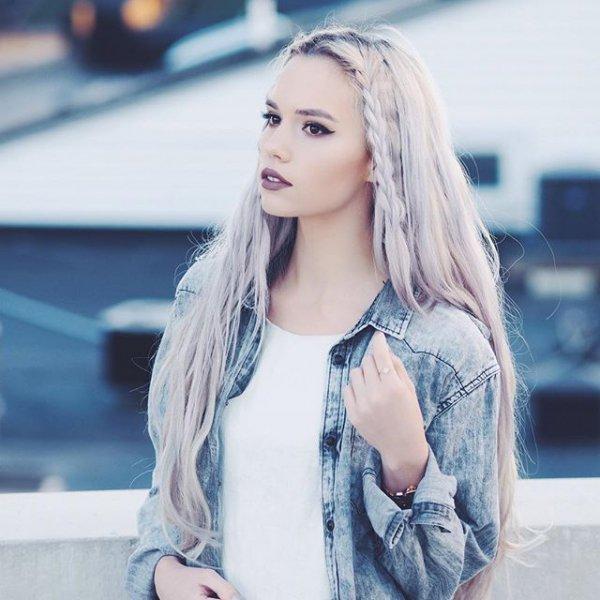 clothing, hair, blond, hairstyle, denim,