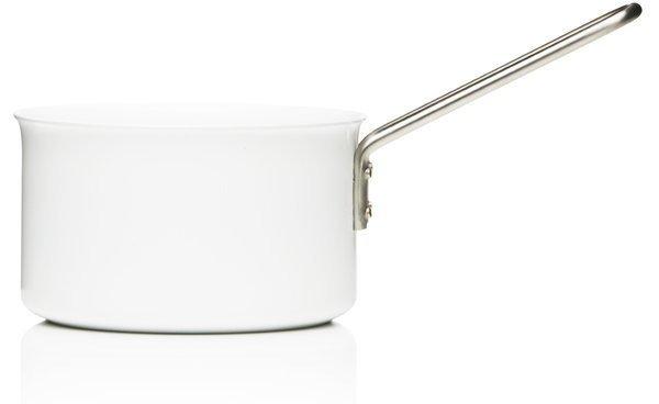 White Saucepan, Aluminum with Ceramic Coating
