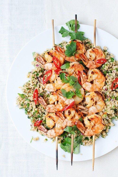 food, dish, shrimp, salad, produce,