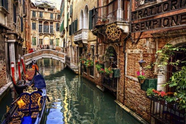 waterway, canal, town, gondola, city,