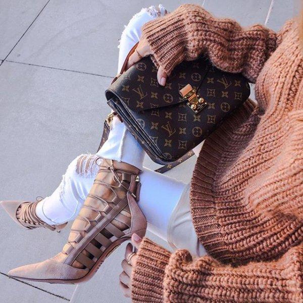 footwear, brown, handbag, spring, shoe,