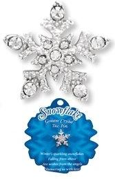 Crystal Snowflake Pin