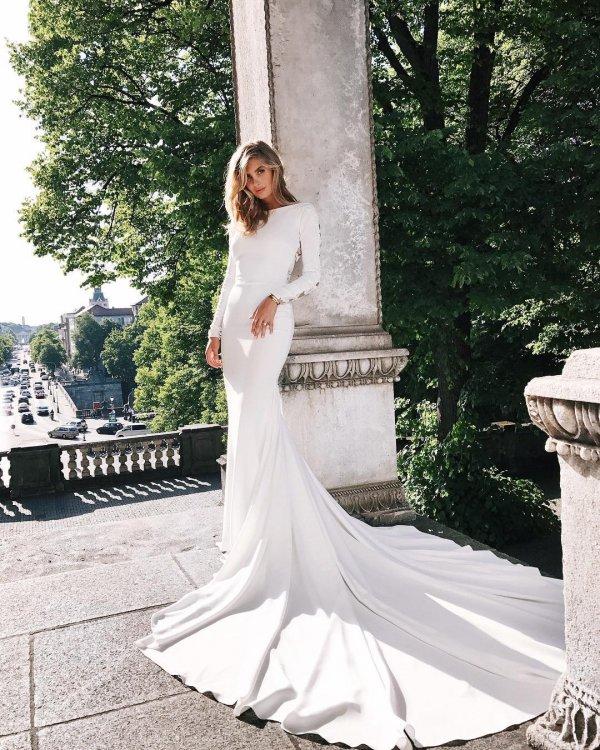 wedding dress, dress, gown, clothing, bride,